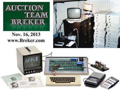 Straight from Steve Jobs' Bedroom: Apple-1 Computer at Auction www.Breker.com (PRNewsFoto/AuctionTeamBreker)