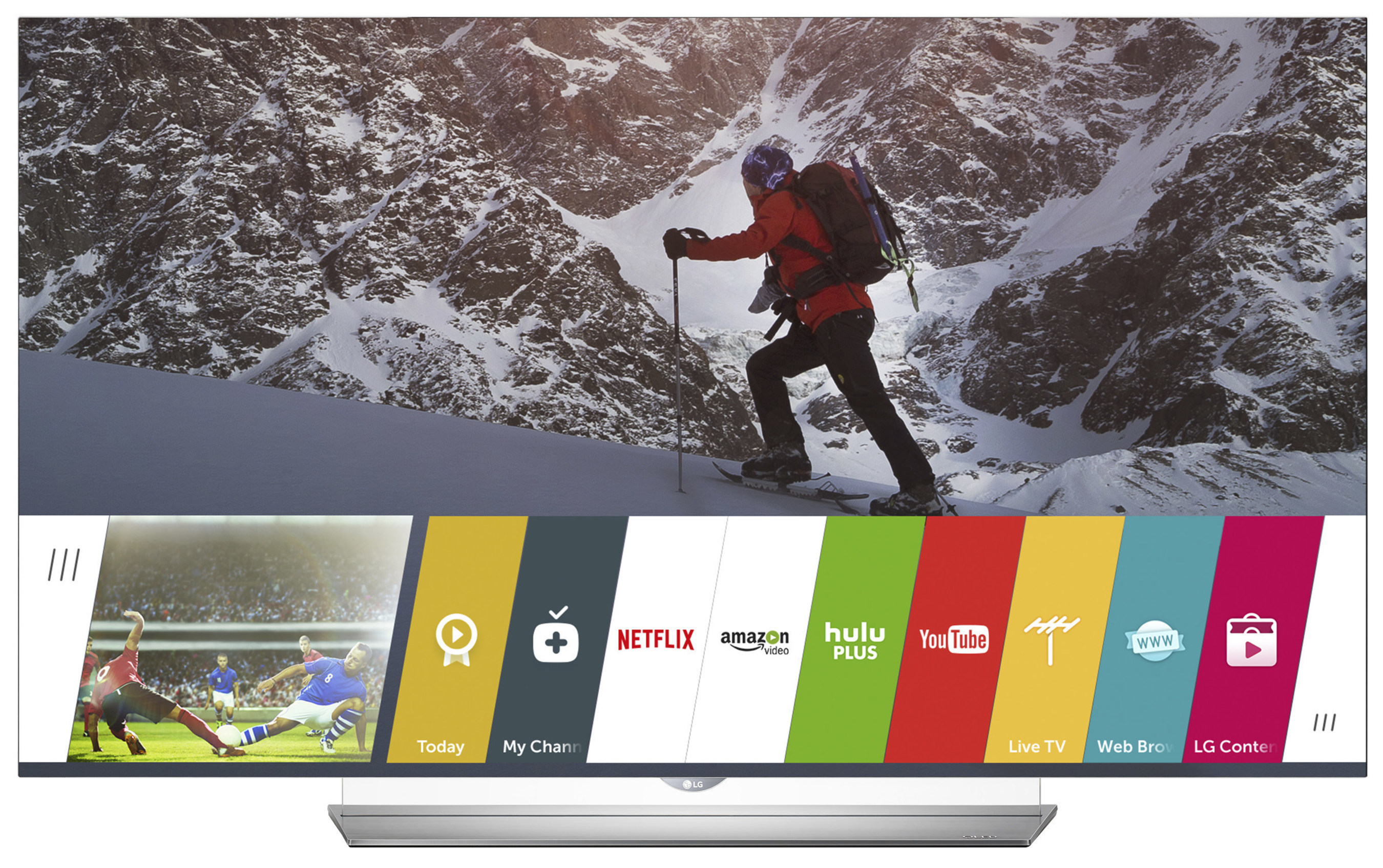 LG Electronics today announced the launch of High Dynamic Range (HDR) streaming on 2015 LG OLED 4K TVs, including the just-announced EF9500 Flat OLED 4K TV series (pictured). Consumers can now enjoy exceptional HDR picture quality streaming directly via the Amazon Video app, available on LG's webOS Smart TV platform.