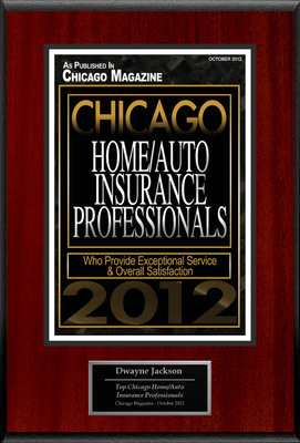 "Dwayne Jackson Selected For ""Chicago Home/Auto Insurance Professionals"".  (PRNewsFoto/American Registry)"
