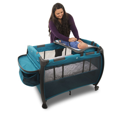 The Room provides all-in-one convenience with everything a baby needs for sleeping, diaper changes, and playtime. Perfect for parents, grandparents, and caregivers for use at home and traveling.
