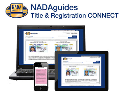 15 Day Free Trial - NADAguides Title and Registration CONNECT.  (PRNewsFoto/NADAguides)
