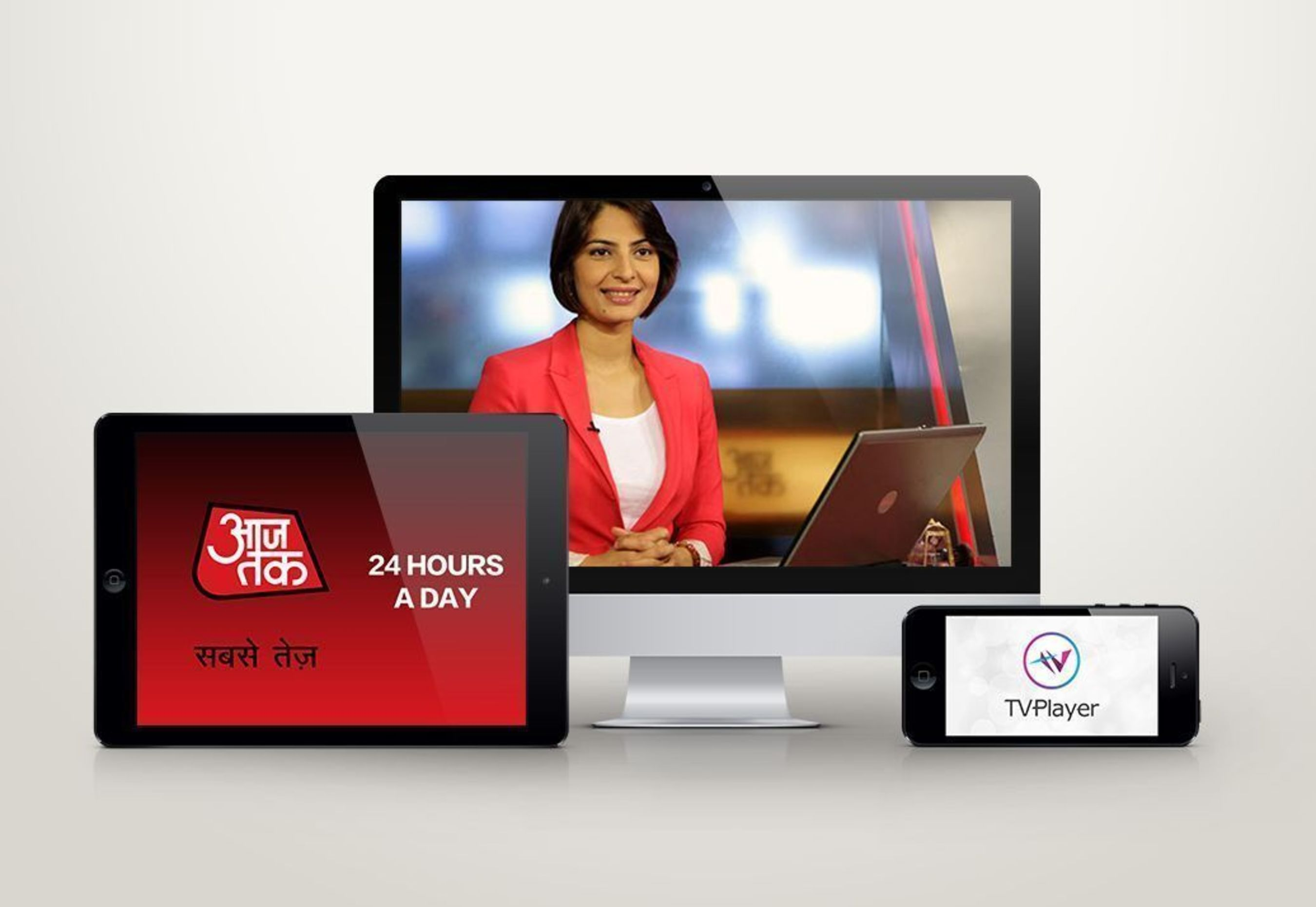 Leading News Channel Aaj Tak Comes to TVPlayer (PRNewsFoto/India Today Group _Digital_)