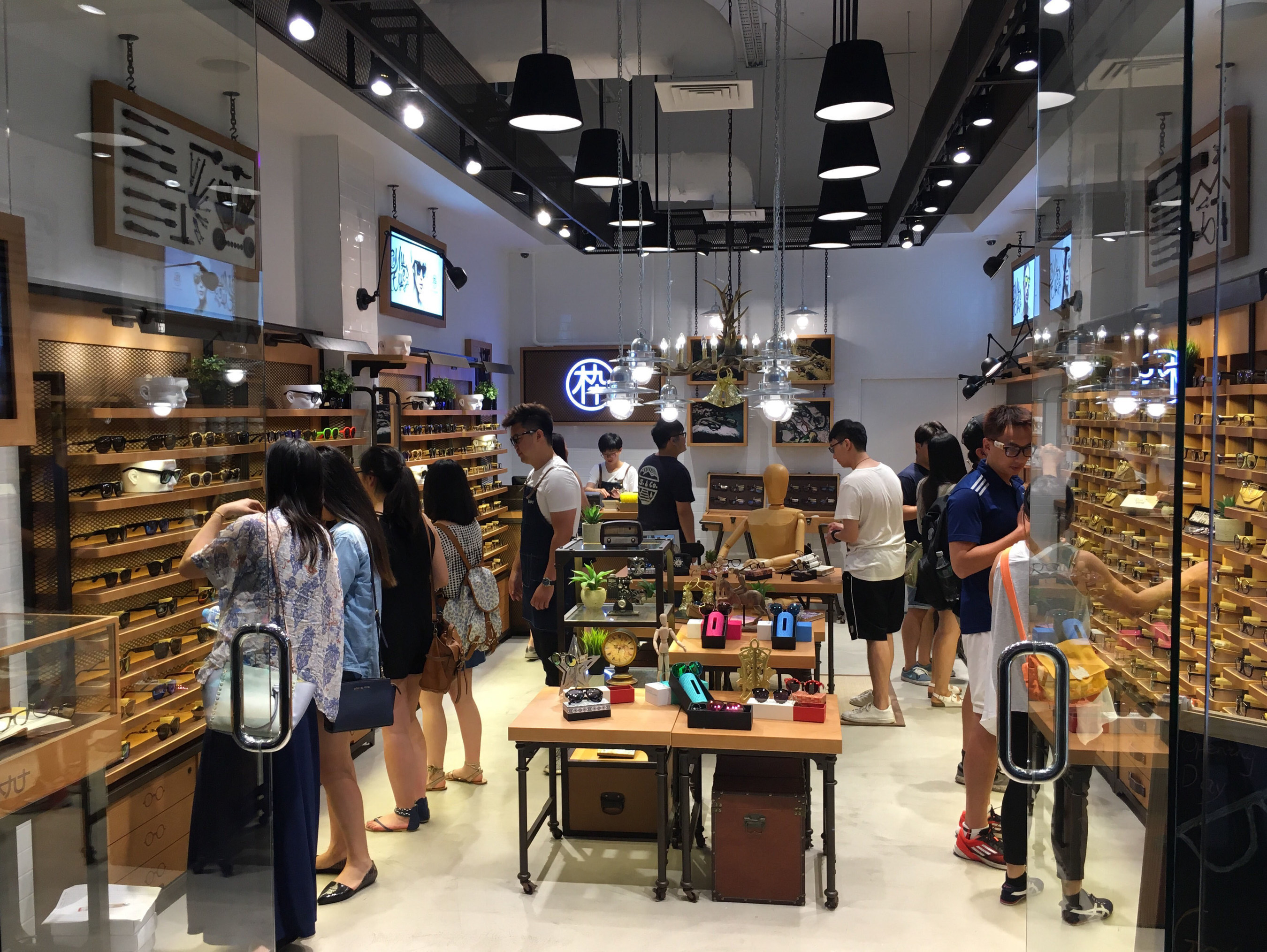 The MUJOSH store in Melbourne Central attracting customers on opening day