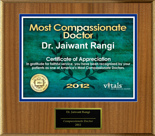Patients Honor Dr. Jaiwant Rangi for Compassion