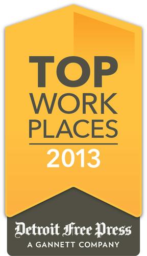 Detroit Free Press Top Work Place logo. (PRNewsFoto/Tweddle Group) (PRNewsFoto/TWEDDLE GROUP)