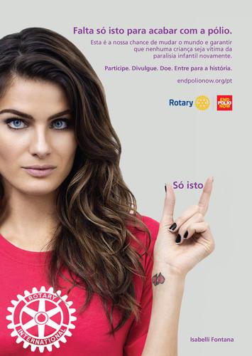 Isabelli Fontana signs on as Rotary celebrity ambassador for polio eradication. (PRNewsFoto/Rotary ...