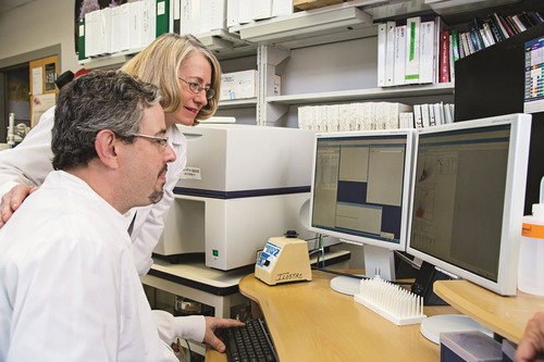 The University of Louisville's Suzanne Ildstad is shown with research coordinator Thomas Miller. Ildstad, ...