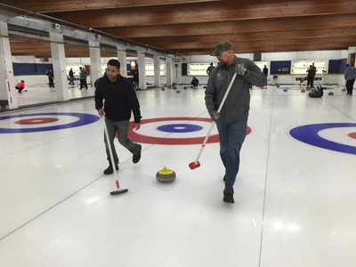 Wounded Warrior Project brought injured service members to participate in a curling tournament.