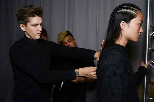 TONI&GUY Hair Meet Wardrobe | Marchesa AW14 | Hair by Mark Hampton. (PRNewsFoto/TONI&GUY Hair Meet Wardrobe) ...