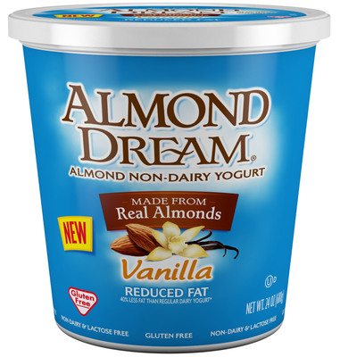 ALMOND DREAM(R) Brand Of Non-Dairy Yogurt Introduces 24 Oz. Multi-Serve Container.  (PRNewsFoto/The Greek Gods(R))