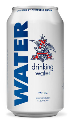 Since 1988, Anheuser-Busch has donated more than 72 million cans of emergency drinking water following natural and other disasters. (PRNewsFoto/Anheuser-Busch)