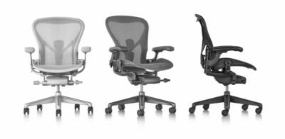 Herman miller brengt nieuwe aeron bureaustoel uit for Bureau stoel