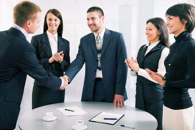 Datix & AIM shaking hands