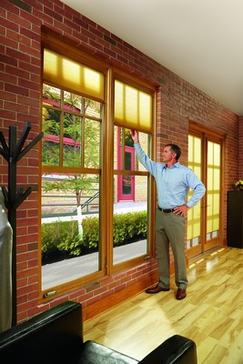 Marvin Windows and Doors' Integrated Interior Shades won a Crystal Achievement Award from Window & Door Magazine. (PRNewsFoto/Marvin Windows and Doors)