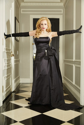 Joy Marks' photo for the June Issue of 25A magazine. Joy is wearing Maggie Norris Couture.