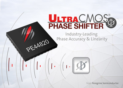 Peregrine Semiconductor's new UltraCMOS(R) PE44820 is an 8-bit digital phase shifter that delivers exceptional phase accuracy and high linearity for active antenna applications.