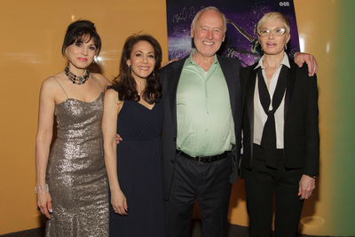 Left to Right: Media Personality Valerie Smaldone, Festival producer, SVA faculty member and independent film producer Annie Flocco, chair of the BFA Film and Animation and Video and BFA Animation departments, Reeves Lehmann, and Actress and Dustys presenter, Ellen Barkin all join together to celebrate SVA's 25th Annual Dusty Film & AnimationAwards, Tuesday, May 13, 2014. PHOTO Credit: Leandro Badalotti (dusty.sva.edu) (PRNewsFoto/School of Visual Arts)