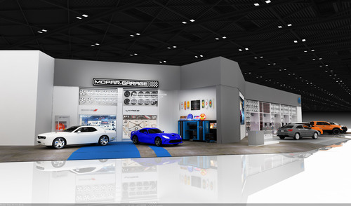 Mopar Custom Shop is part of brand new 5,500 square foot display at NAIAS. (PRNewsFoto/Chrysler Group LLC) ...