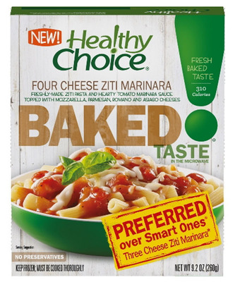 FINALLY, FRESH-BAKED TASTE FROM THE MICROWAVE WITH NEW HEALTHY CHOICE BAKED ENTREES.  (PRNewsFoto/ConAgra Foods, Inc.)