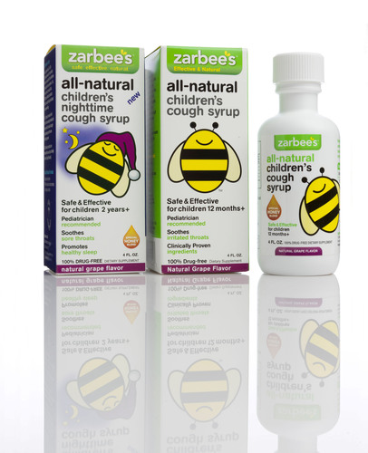 Zarbee's All-Natural Children's Cough Syrup. (PRNewsFoto/Zarbee's) (PRNewsFoto/ZARBEE'S)