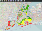 Direct Relief analysis of evacuation zones for Hurricane Sandy in relation to health clinic partners.  (PRNewsFoto/Direct Relief International)