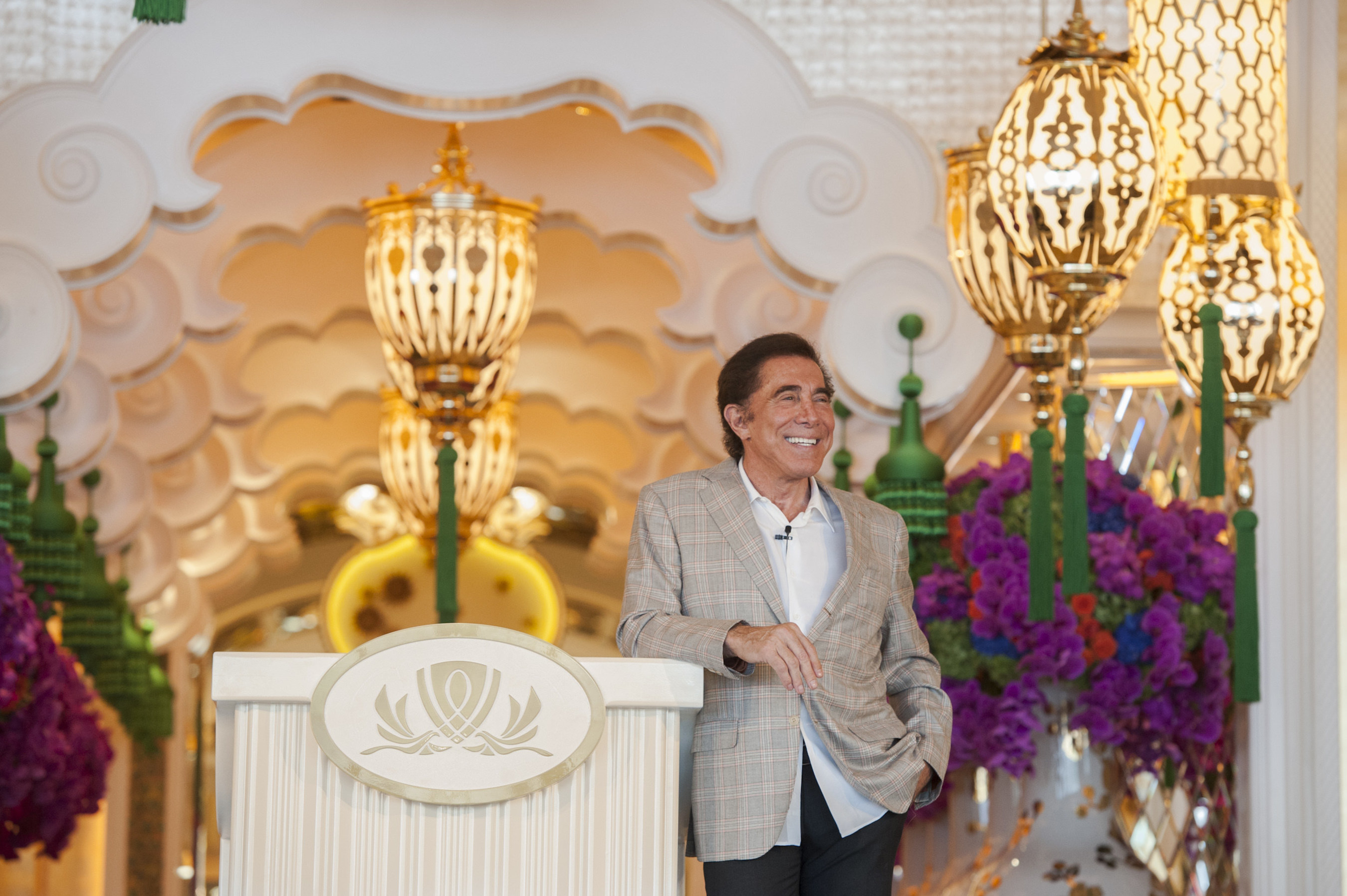 Steve Wynn hosted a press conference ahead of the opening of his new resort, Wynn Palace, in Cotai, Macau on August 22, 2016.