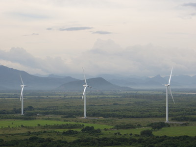 Goldwind's 2.5 MW PMDD turbines operating in Panama earlier this year.