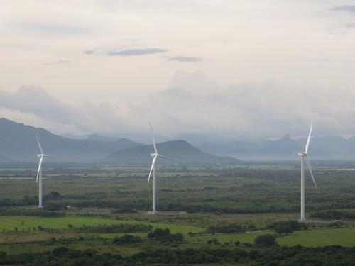 Goldwind's 2.5 MW PMDD turbines operating in Panama earlier this year. (PRNewsFoto/Goldwind USA, Inc.)