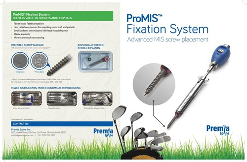 ProMIS(TM)  Fixation System with Advanced MIS screw placement (PRNewsFoto/Premia Spine)