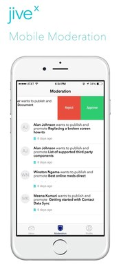 New admin mobile app from Jive-x