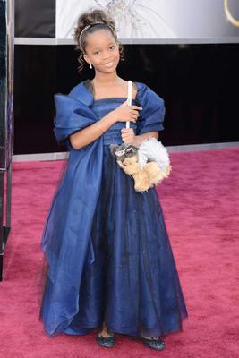 Quvenzhane Wallis in Forevermark Diamonds at the Oscars. (PRNewsFoto/Forevermark) (PRNewsFoto/FOREVERMARK)