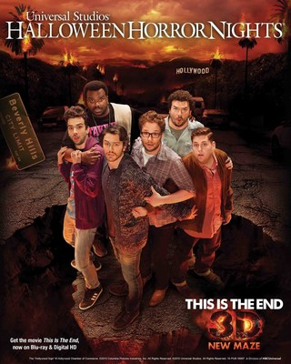 "Universal Studios Hollywood Casts This is the End in an All-New Terrifying 3D ""Halloween Horror Nights"" Maze, Based on the Hit Film Starring James Franco, Seth Rogen, Jonah Hill, Jay Baruchel, Danny McBride and Craig Robinson Beginning Friday, September 18."