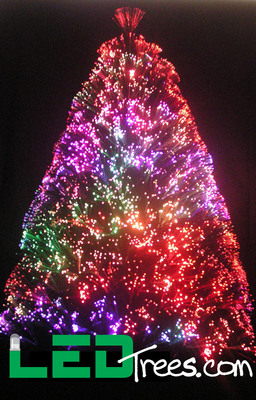 High quality LED powered Fiber Optic Christmas Trees.  (PRNewsFoto/LEDtrees.com)