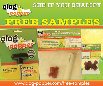 Clog Popper Free Samples.  (PRNewsFoto/Good Day Tools)