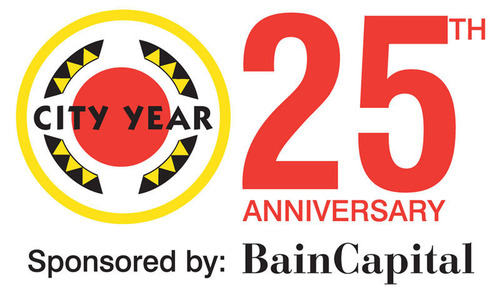 City Year 25th Anniversary logo.  (PRNewsFoto/City Year)