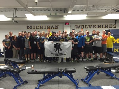 Wounded service members participated in a Physical Health and Wellness seminar, offered by Wounded Warrior Project and hosted by the University of Michigan.