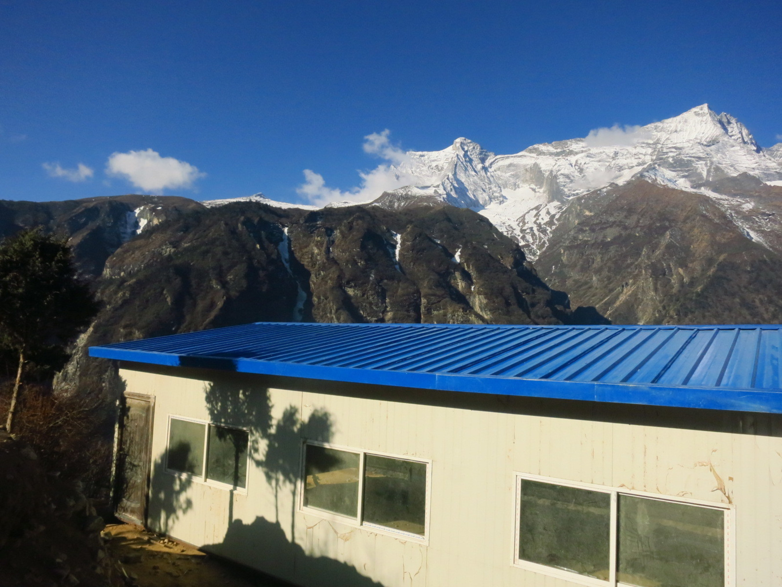 Namche Bazaar relief center in Nepal's Everest region. The new center will be stocked with essential supplies that can be accessed by the community in the event of a natural disaster. REI Adventures worked closely with its in-country guide team, Sagarmatha Buffer Zone Authority and Sagarmatha Pollution Control Committee.