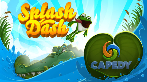 In the iOS game Splash Dash, you help Tad the frog jump upstream using lily pads, flowers, grasshoppers, turtles and more to avoid Clementine the Crocodile. With its bright and inviting graphics and whimsical music, Splash Dash is addictively fun. By simply tilting your device back and forth you can help Tad gather coins, bounce off bubbles, avoid crocodiles and take advantage of other friendly creatures to get as far upstream as he can. The game is simple, entertaining and even allows users to customize Tad with various colors and accessories.Please visit http://www.splashdashgame.com for more information. (PRNewsFoto/Capedy LLC) (PRNewsFoto/CAPEDY LLC)