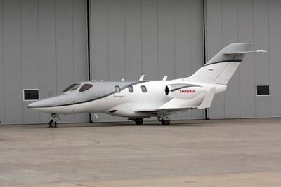 HondaJet outside Gary Jet Center hangar, Gary, IN (KGYY).Photo credit: Wendell Harris