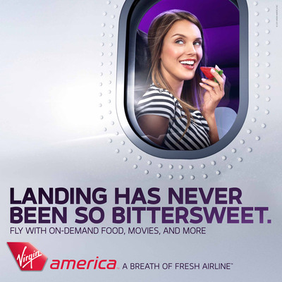 "Virgin America today announces the launch of its new national multi-media ""Breath of Fresh Airline"" advertising campaign.  (PRNewsFoto/Virgin America)"