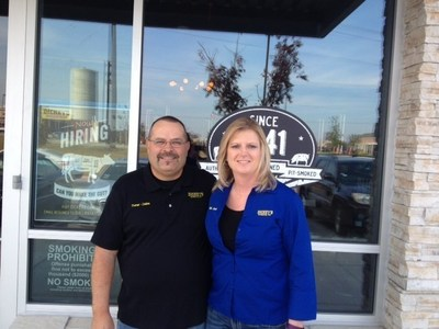 Kristi Mahoney and Dallas Misenhimer open a new Dickey's Barbecue Pit location in Frisco.