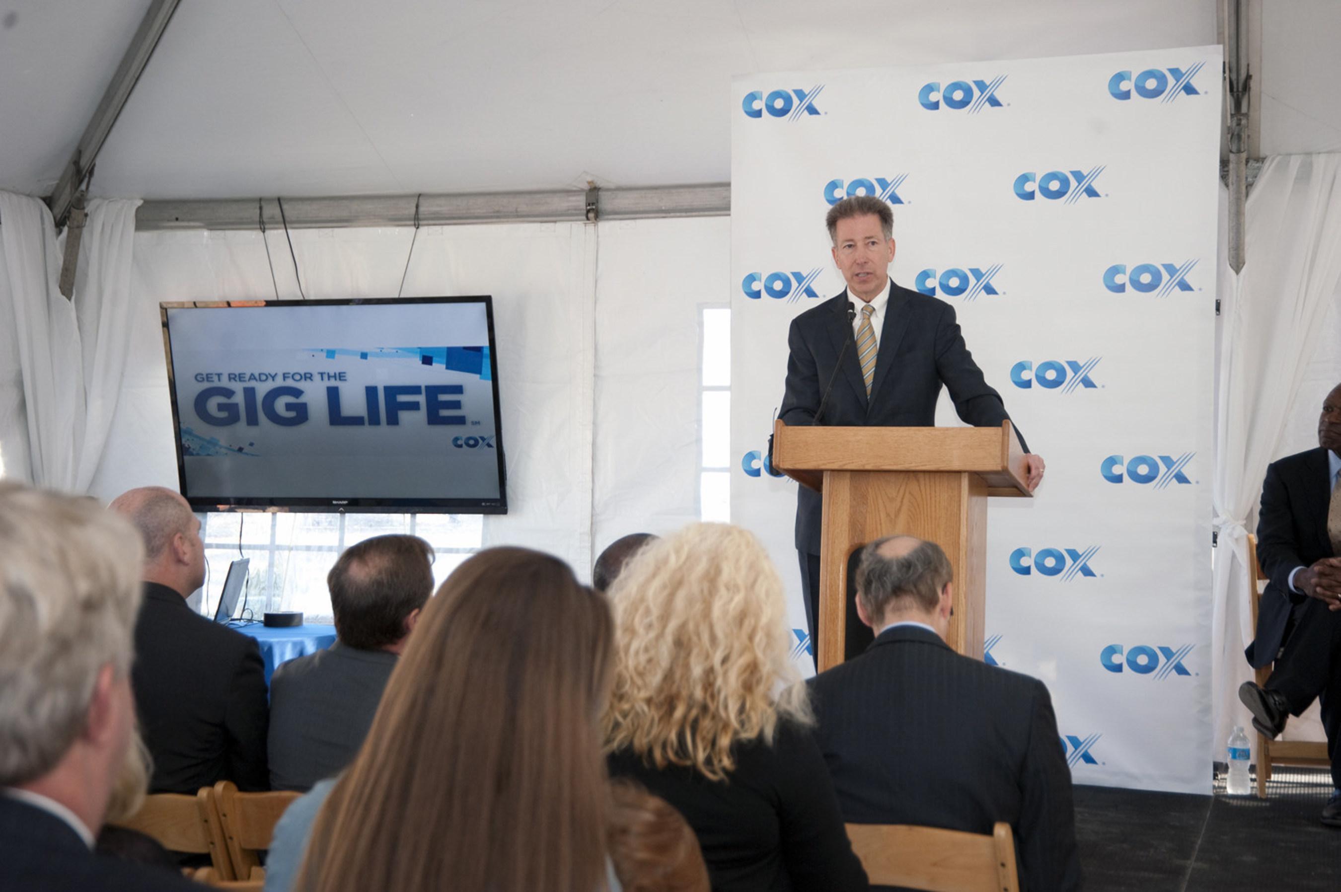 Cox Communications President Pat Esser announces first Virginia development to get Gigabit internet speeds  - Viridian Reserve at Hickory in Chesapeake.