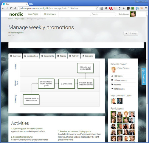 Example from Gluu's social BPM platform. (PRNewsFoto/Gluu) (PRNewsFoto/GLUU)