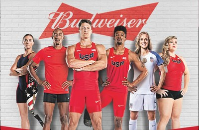 Budweiser Joins Forces with Six Elite Athletes to Support their Journeys to the 2016 Olympic Games in Rio de Janeiro
