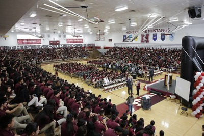 Morton High School District 201 holds surprise assembly to announce it was named the College Board Advanced Placement District of the Year.