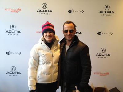 Anne Litt and Jason Bentley of KCRW.  (PRNewsFoto/Acura)