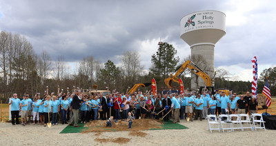 CalAtlantic Homes and Operation Coming Home partner to break ground on a beautiful new home in Holly Springs, NC for wounded veteran, Staff Sergeant Brandan Taylor.