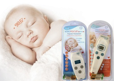 Don't wake a sleeping baby to get their temperature. Use a Family 1st VisioFocus Infrared Non-Contact Projection Thermometer.