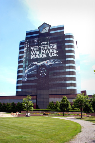 Jeep® Brand Advertising Campaign Comes to Life as Chrysler Group LLC Headquarter's Building is