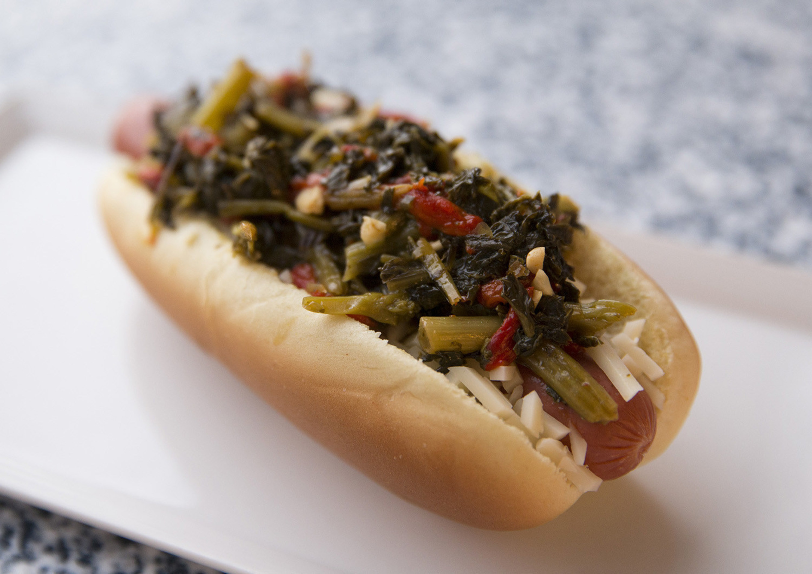 Aramark is celebrating National Hot Dog Month with a delicious roster of gourmet hot dogs, including the South Philly Dog, from Citizens Bank Park.